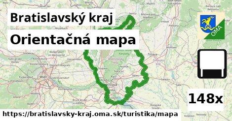 ilustračný obrázok k Orientačná mapa, Bratislavský kraj