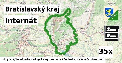 internát v Bratislavský kraj