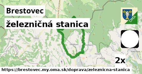 ilustračný obrázok k železničná stanica, Brestovec, okres MY