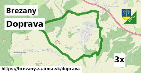 doprava v Brezany, okres ZA