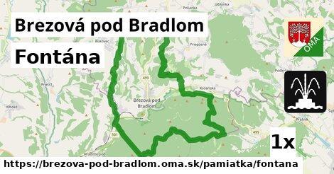 Fontána, Brezová pod Bradlom