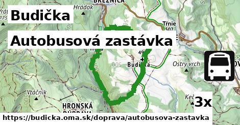 autobusová zastávka v Budička