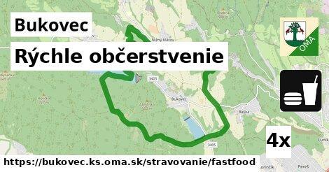 rýchle občerstvenie v Bukovec, okres KS
