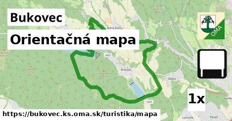 ilustračný obrázok k Orientačná mapa, Bukovec, okres KS