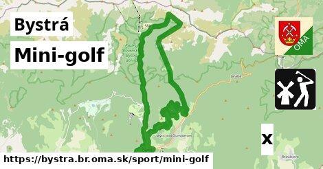 mini-golf v Bystrá, okres BR