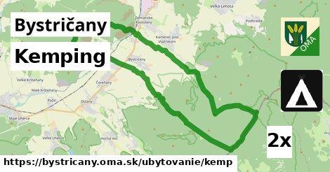 kemping v Bystričany
