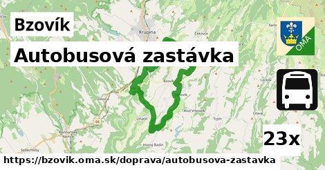 autobusová zastávka v Bzovík