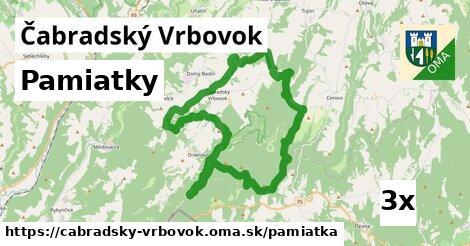 pamiatky v Čabradský Vrbovok