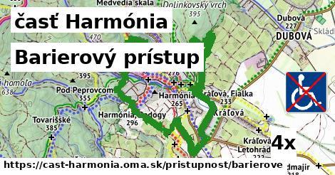 barierový prístup v časť Harmónia