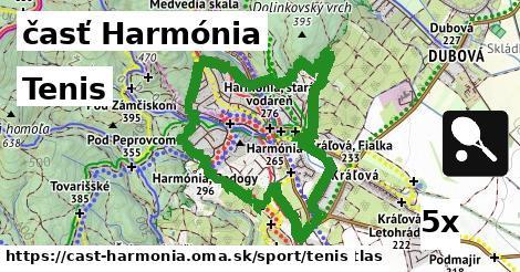tenis v časť Harmónia