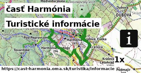 turistické informácie v časť Harmónia