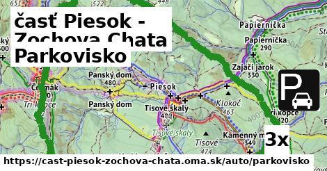 parkovisko v časť Piesok - Zochova Chata