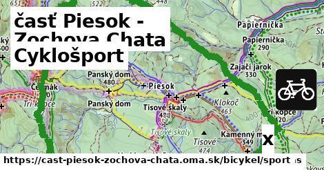 cyklošport v časť Piesok - Zochova Chata