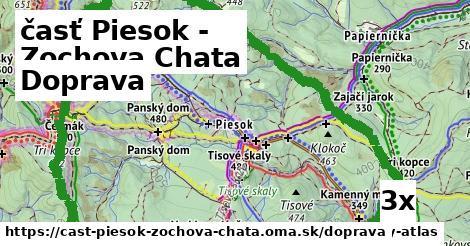 doprava v časť Piesok - Zochova Chata