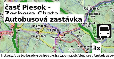 autobusová zastávka v časť Piesok - Zochova Chata