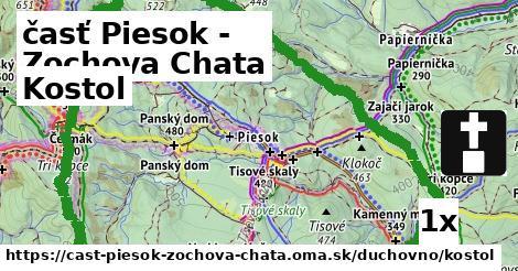 kostol v časť Piesok - Zochova Chata