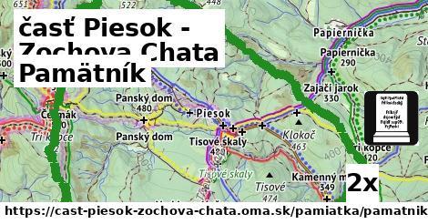 ilustračný obrázok k Pamätník, časť Piesok - Zochova Chata
