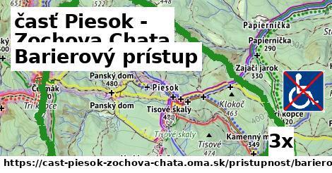 barierový prístup v časť Piesok - Zochova Chata