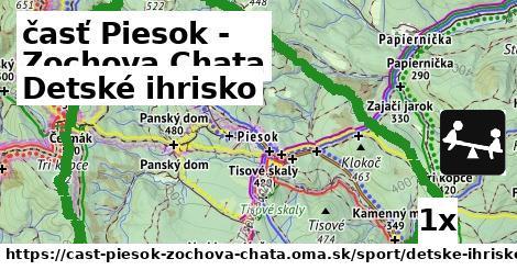 detské ihrisko v časť Piesok - Zochova Chata