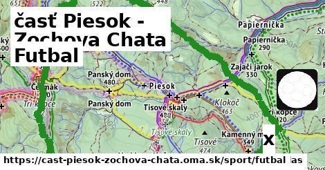 futbal v časť Piesok - Zochova Chata