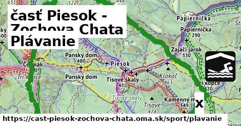 plávanie v časť Piesok - Zochova Chata
