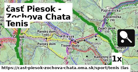 tenis v časť Piesok - Zochova Chata