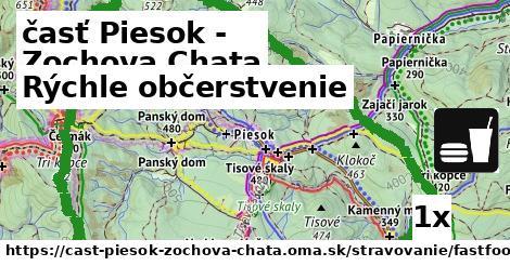 rýchle občerstvenie v časť Piesok - Zochova Chata