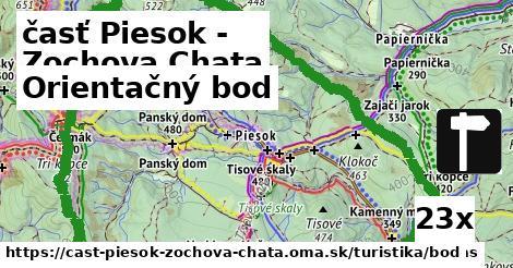orientačný bod v časť Piesok - Zochova Chata