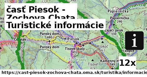 turistické informácie v časť Piesok - Zochova Chata
