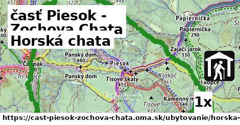 horská chata v časť Piesok - Zochova Chata