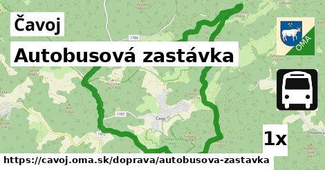ilustračný obrázok k Autobusová zastávka, Čavoj