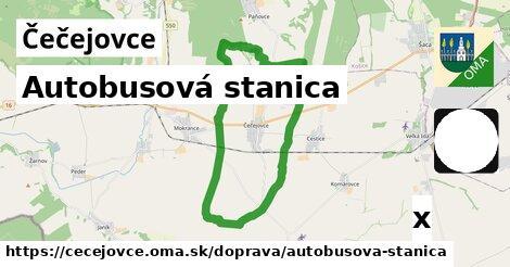 autobusová stanica v Čečejovce