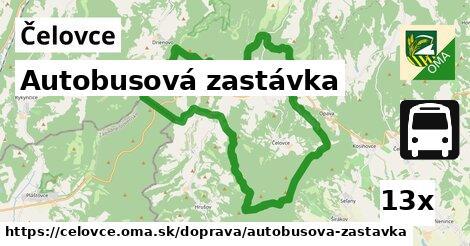 autobusová zastávka v Čelovce