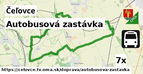 autobusová zastávka v Čeľovce, okres TV