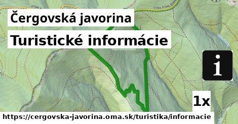 ilustračný obrázok k Turistické informácie, Čergovská javorina