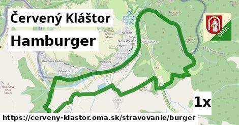 hamburger v Červený Kláštor