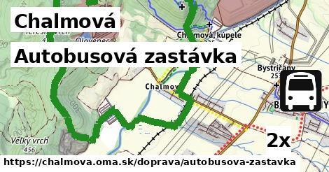 autobusová zastávka v Chalmová