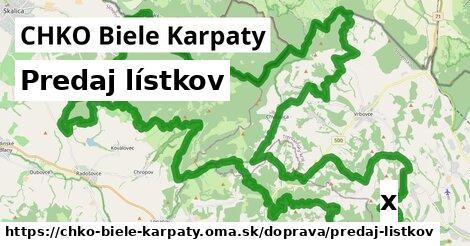 ilustračný obrázok k Predaj lístkov, CHKO Biele Karpaty