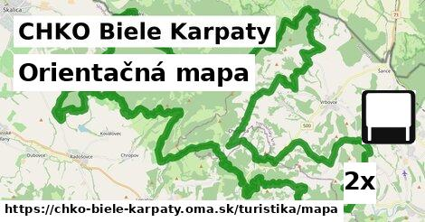 ilustračný obrázok k Orientačná mapa, CHKO Biele Karpaty