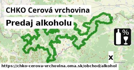 ilustračný obrázok k Predaj alkoholu, CHKO Cerová vrchovina