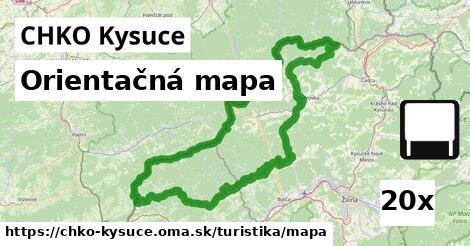 orientačná mapa v CHKO Kysuce