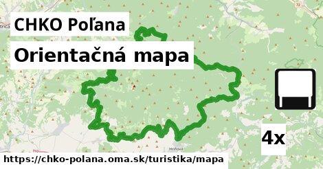 ilustračný obrázok k Orientačná mapa, CHKO Poľana