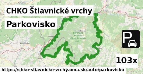 parkovisko v CHKO Štiavnické vrchy