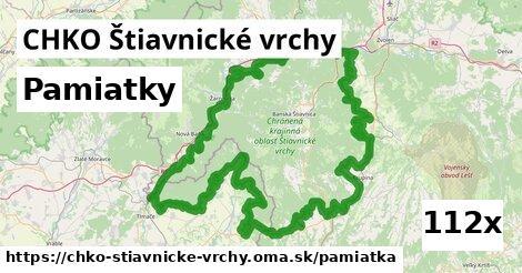pamiatky v CHKO Štiavnické vrchy