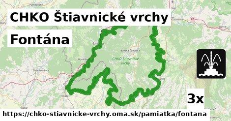 fontána v CHKO Štiavnické vrchy