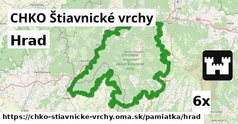 hrad v CHKO Štiavnické vrchy