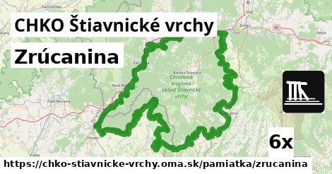 zrúcanina v CHKO Štiavnické vrchy