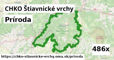 príroda v CHKO Štiavnické vrchy