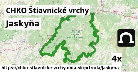 jaskyňa v CHKO Štiavnické vrchy