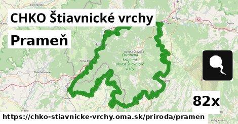 prameň v CHKO Štiavnické vrchy